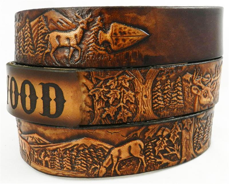Gift for Hunter Handmade Leather Belts GavereLeathernet